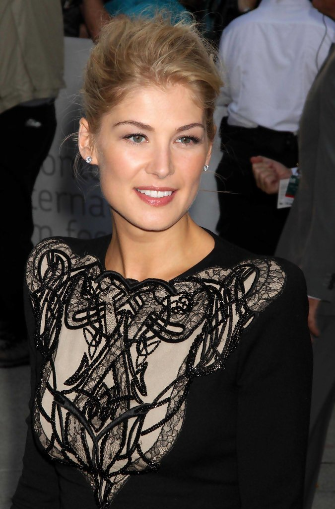 More Pics Of Rosamund Pike Messy Updo 5 Of 6 Rosamund Pike