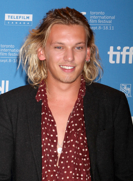Jamie Campbell Bower looked oh-so-cool with his half-up half-down 'do.