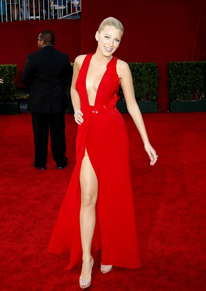 In Versace At The 2009 Emmy Awards
