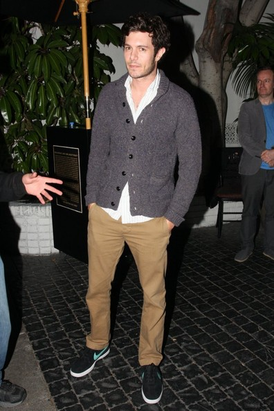 Adam Brody Shawl-Collar Cardigan