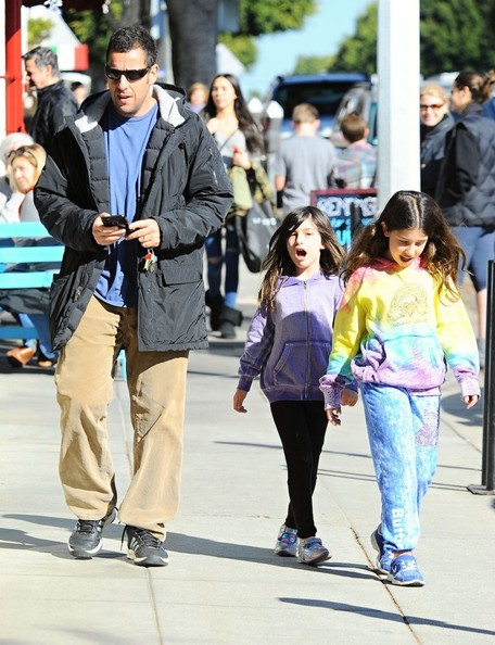 Adam Sandler Takes His Daughters to Lunch