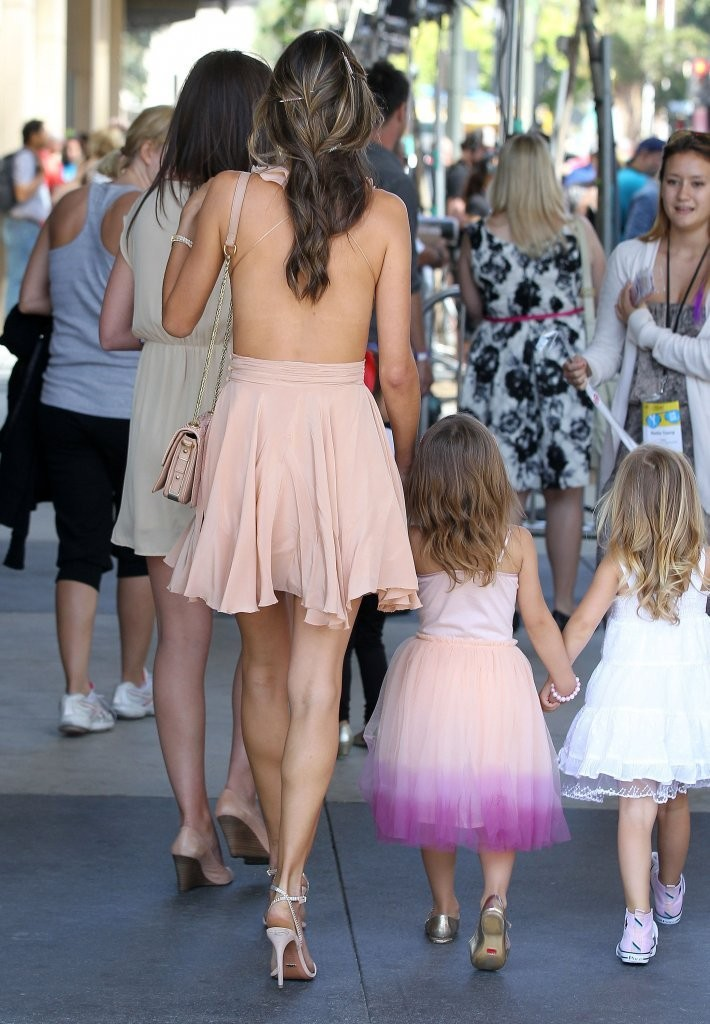 Alessandra Ambrosio Takes Anja To The LA Film Festival
