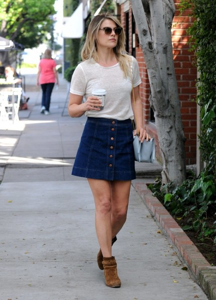 Ali Larter Denim Skirt