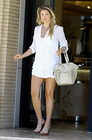 Ali Larter was spotted out and about with a Mini Downtown tote while shopping in Beverly Hills.