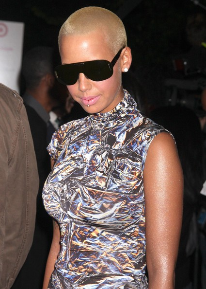 Amber Rose Designer Shield Sunglasses