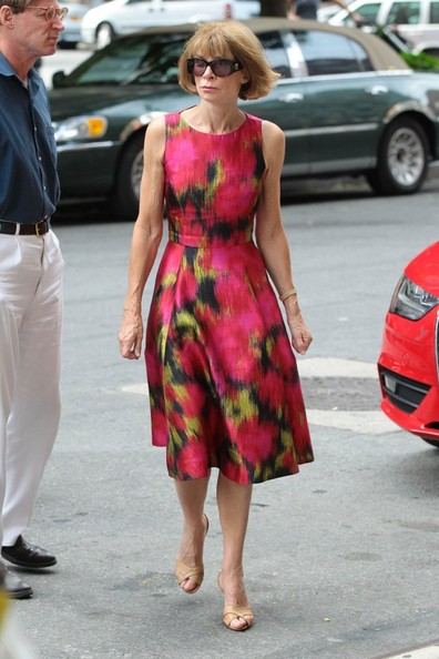 More Pics of Anna Wintour Print Dress (4 of 7) - Anna Wintour Lookbook - StyleBistro
