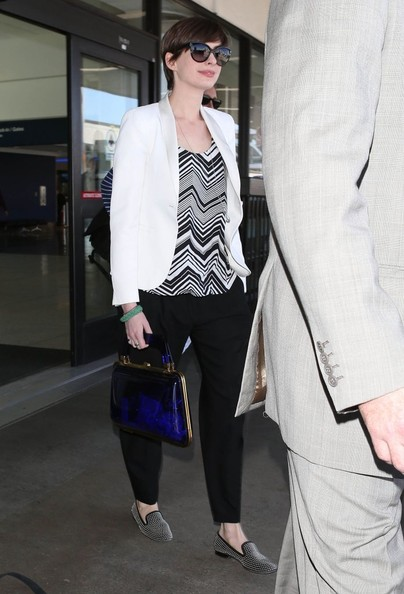 More Pics of Anne Hathaway Slacks (1 of 5) - Anne Hathaway Lookbook - StyleBistro