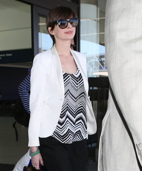 More Pics of Anne Hathaway Slacks (2 of 5) - Anne Hathaway Lookbook - StyleBistro