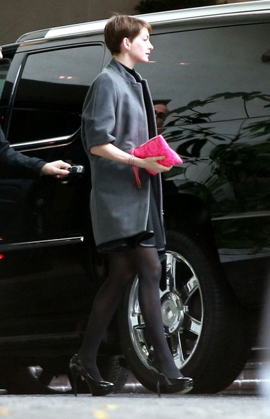 More Pics of Anne Hathaway Wool Coat (1 of 7) - Anne Hathaway Lookbook - StyleBistro