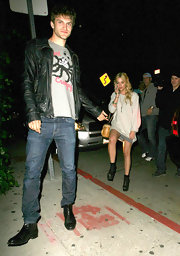 Keegan Allen was spotted wearing a pair of leather ankle boots while out in West Hollywood.