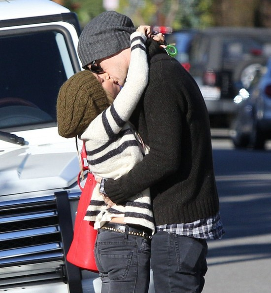 Ashley Tisdale & Christopher French Share A Kiss After Lunch