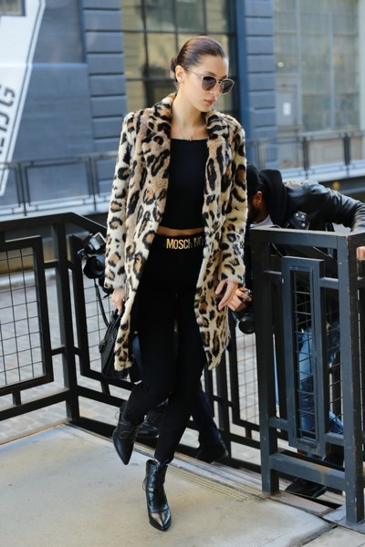 Bella Hadid Faux Fur Coat