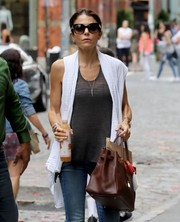 Bethenny Frankel put on a pair of square sunnies for a day out in New York City.