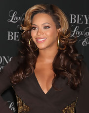Beyonce Knowles perfected her pout with a soft, shimmering mauve lipstick at a screening of 'Beyonce Live at Roseland.'