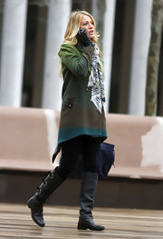 Blake Lively wore her own more stylish version of Joseph's Technicolor Dream Coat  on the set of 'Gossip Girl.'
