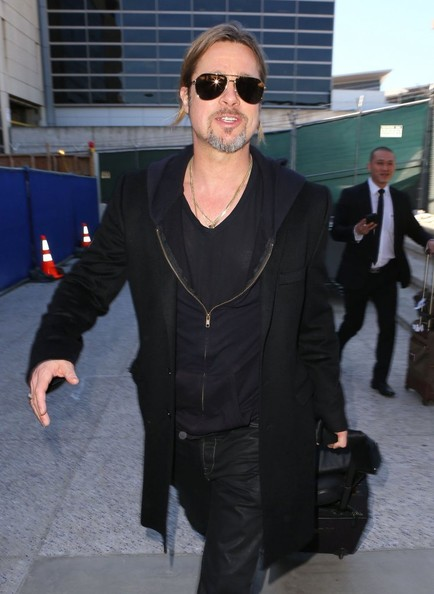 More Pics of Brad Pitt Wool Coat (1 of 29) - Brad Pitt Lookbook - StyleBistro