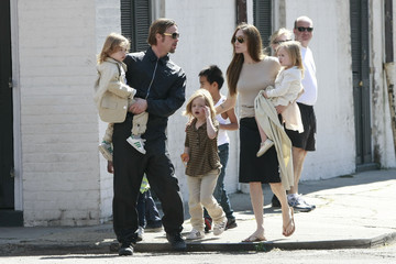 Brad Pitt Zahara Jolie Pitt Brad and Angelina Show Off the Kids in NOLA