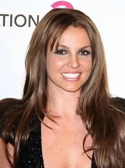 Britney Spears went back to brunette — the first time in 4 years! — for Elton John's 2013 Oscars after-party.