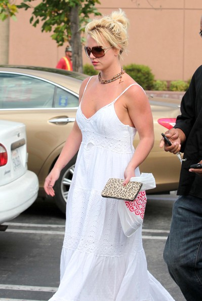 Britney Spears Loose Bun