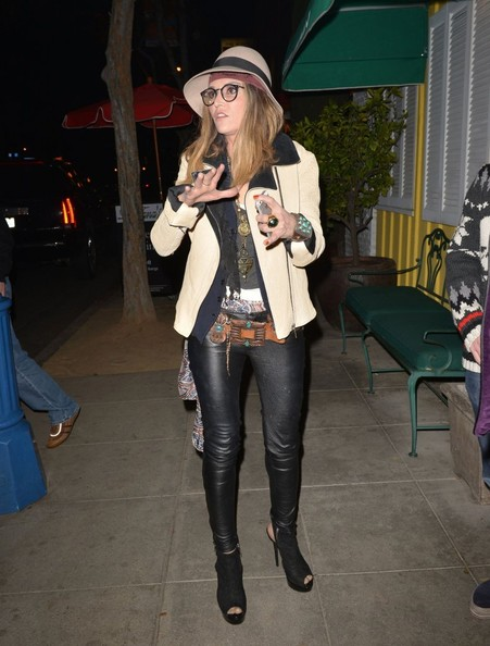More Pics of Brooke Mueller Leather Pants (1 of 15) - Leather Pants Lookbook - StyleBistro