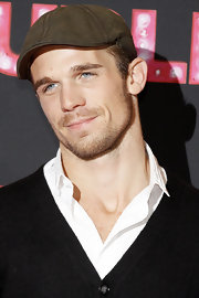 Cam Gigandet added some spunk to his look with a cool military green newsboy cap.