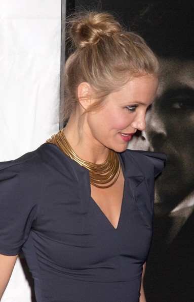 loose bun wedding hair. Cameron Diaz Loose Bun