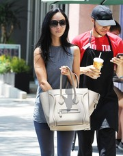 Cara Santana was spotted out in West Hollywood carrying a chic Celine Luggage tote, in taupe.
