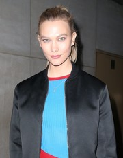 Karlie Kloss opted for a casual ponytail when she visited 'The Today Show.'