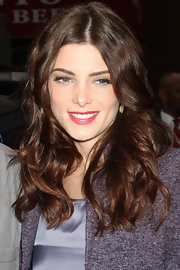 Ashley Greene wore her long shiny tresses in softly flowing waves during an appearance on 'Today.'