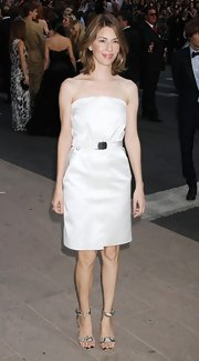 Sofia Coppola gave her classic strapless dress an exotic finish with snakeskin ankle strap sandals at the 2011 CFDA Awards.