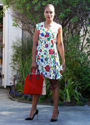 Kerry Washington looked picture-perfect in her Suno floral mini dress during the Day of Indulgence Summer Party.