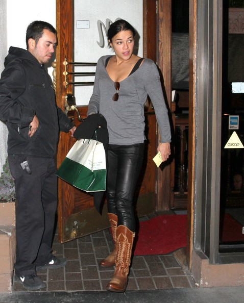 More Pics of Michelle Rodriguez Cowboy Boots (5 of 6) - Michelle Rodriguez Lookbook - StyleBistro