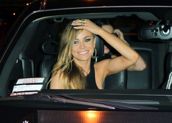 More Pics of Carmen Electra Long Braided Hairstyle (1 of 7) - Carmen Electra Lookbook - StyleBistro