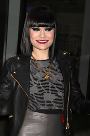 Jessie J styled her hair in her signature blunt cut and matching bangs while making an appearance on the 'Today Show.'