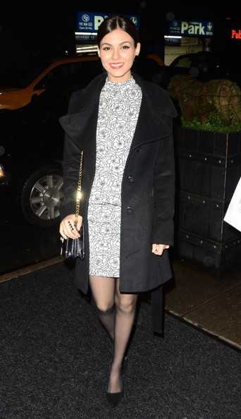 More Pics of Victoria Justice Pea Coat (1 of 5) - Victoria Justice Lookbook - StyleBistro