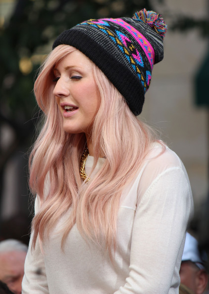 More Pics of Ellie Goulding Pompom Beanie (1 of 33) - Ellie Goulding Lookbook - StyleBistro