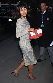 Kerry Washington's lavender pumps were a lovely match for her dress.