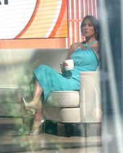 Jennifer Lopez looked heavenly in a turquoise halter dress by Emanuel Ungaro during her appearance on 'The Today Show.'