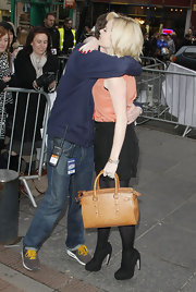 Amanda Holden carried an oversized ostrich leather bag to 'Britain's Got Talent' auditions in Edinburgh.