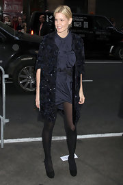 Mary Alice was dressed to the nines a the Calvin Klein show in NYC wearing a sparkling evening coat.