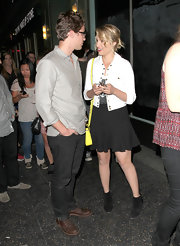 Dianna looked cute at a Jack White concert in this simple black tulip skirt by Derek Lam.