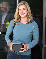 Holly Branson was seen at the We Day Vancouver wearing a comfy boatneck sweater.