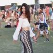Kendall Jenner in Print Bell-Bottoms and a Peasant Top