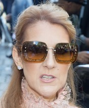 Celine Dion was spotted out in Paris sporting a pair of rimless, glitter-accented sunnies.