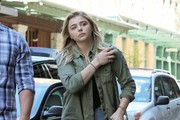 Chloe Grace Moretz Leather Sneakers