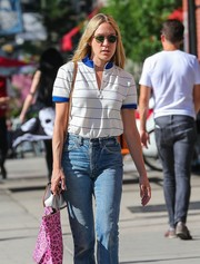 Chloe Sevigny went out for a stroll in New York City wearing a pair of round shades.
