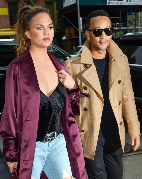 Chrissy Teigen Leather Belt