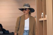 Chrissy Teigen Straw Hat