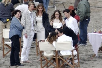 "Christa B. Allen Nick Wechsler Stars Film A Beach Wedding On Set Of ""Revenge"""