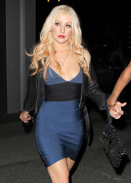 Christina Aguilera Studded Clutch